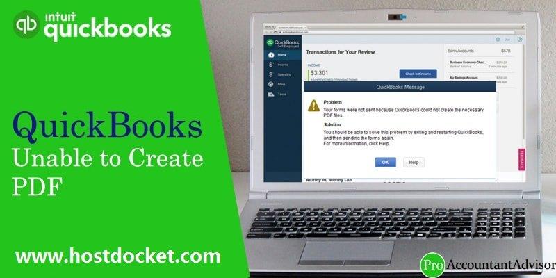 QuickBooks Unable to Create PDF-Pro Accountant Advisor