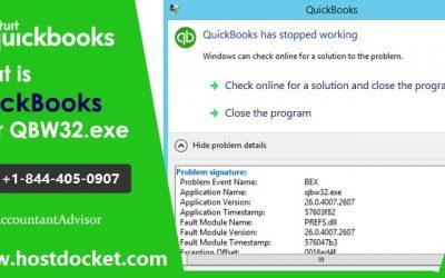 What is the Best Ways to Fix QuickBooks Error QBW32.exe?