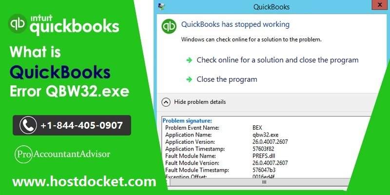 What is QuickBooks Error QBW32.exe-Pro Accountant Advisor