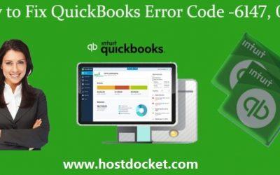 How to Fix QuickBooks Error Code 6147, 0?