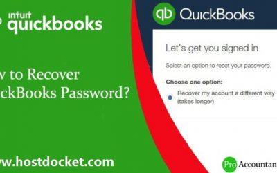 How to Recover or Reset QuickBooks Desktop Password?