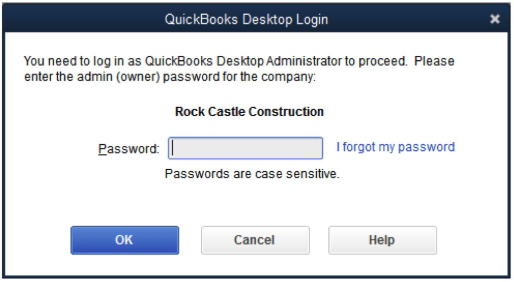 Password Reset - Screenshot