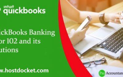 How to Fix QuickBooks Banking Error 102?