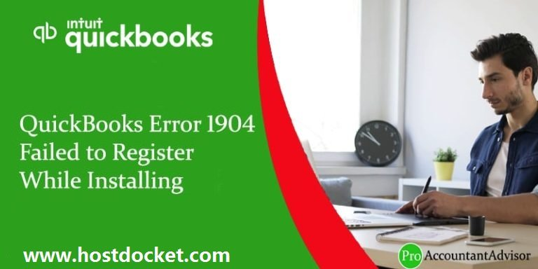 QuickBooks Error 1904–Failed to Register While Installing Fixed
