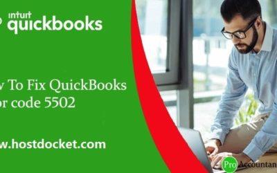 How to Troubleshoot QuickBooks Error code 5502?