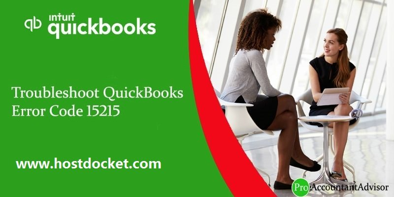 Troubleshoot QuickBooks Error Code 15215