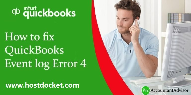 Fix QuickBooks Event log Error 4 - Featured Image