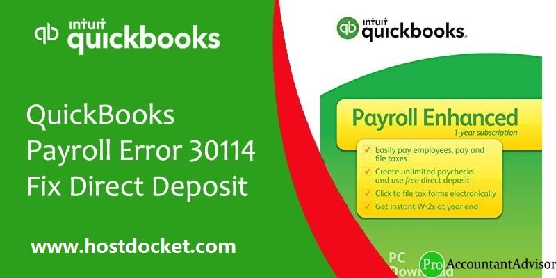 How to Fix QuickBooks Payroll Error 30114?